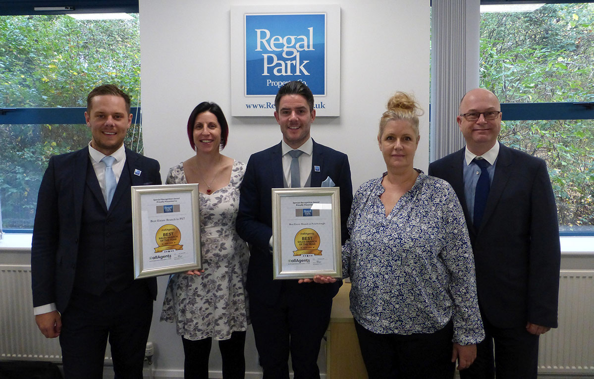 Regal Park Team With Awards